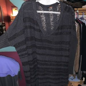Free People Sweaters - Free People oversized black Sweater
